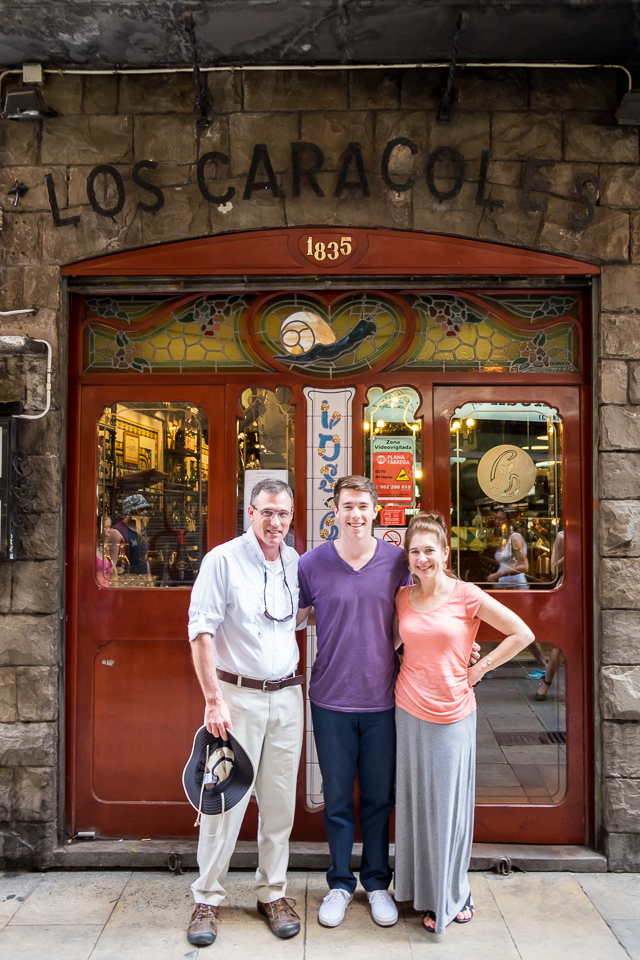 Had a great lunch with Spencer and his friends at Los Caracoles.