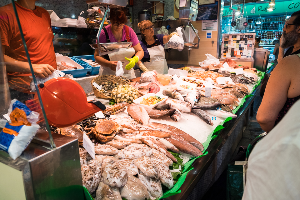 Fresh fish is in great supply at the market.