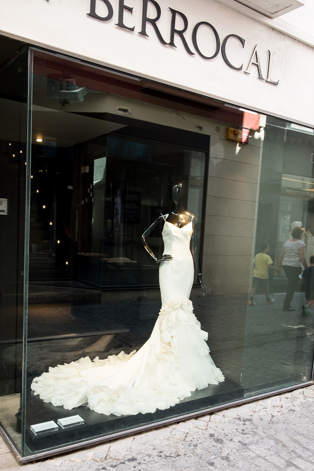 Say yes to the dress. One street of back to back wedding and formal dresses