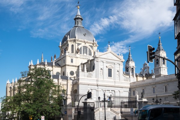 Front view of the Almudena Cathedral