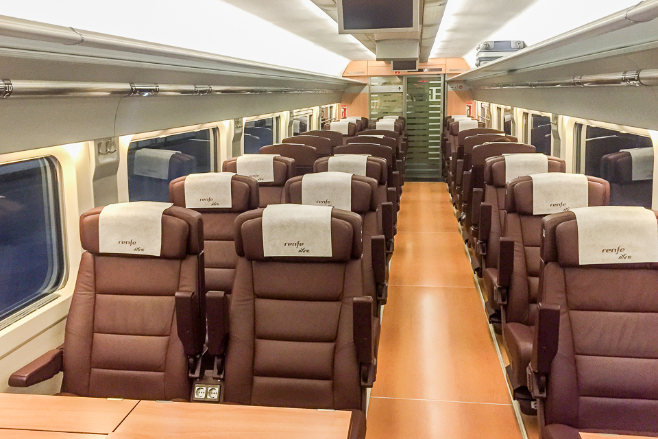 Inside view of the AVE, high speed train