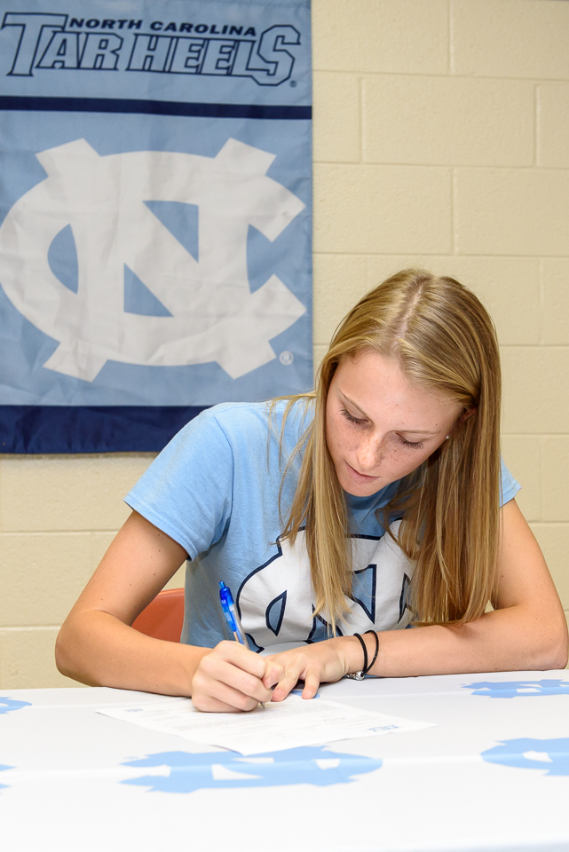 Hailey Cole signs her National Letter of Intent to play softball at the University of North Carolina at Chapel Hill